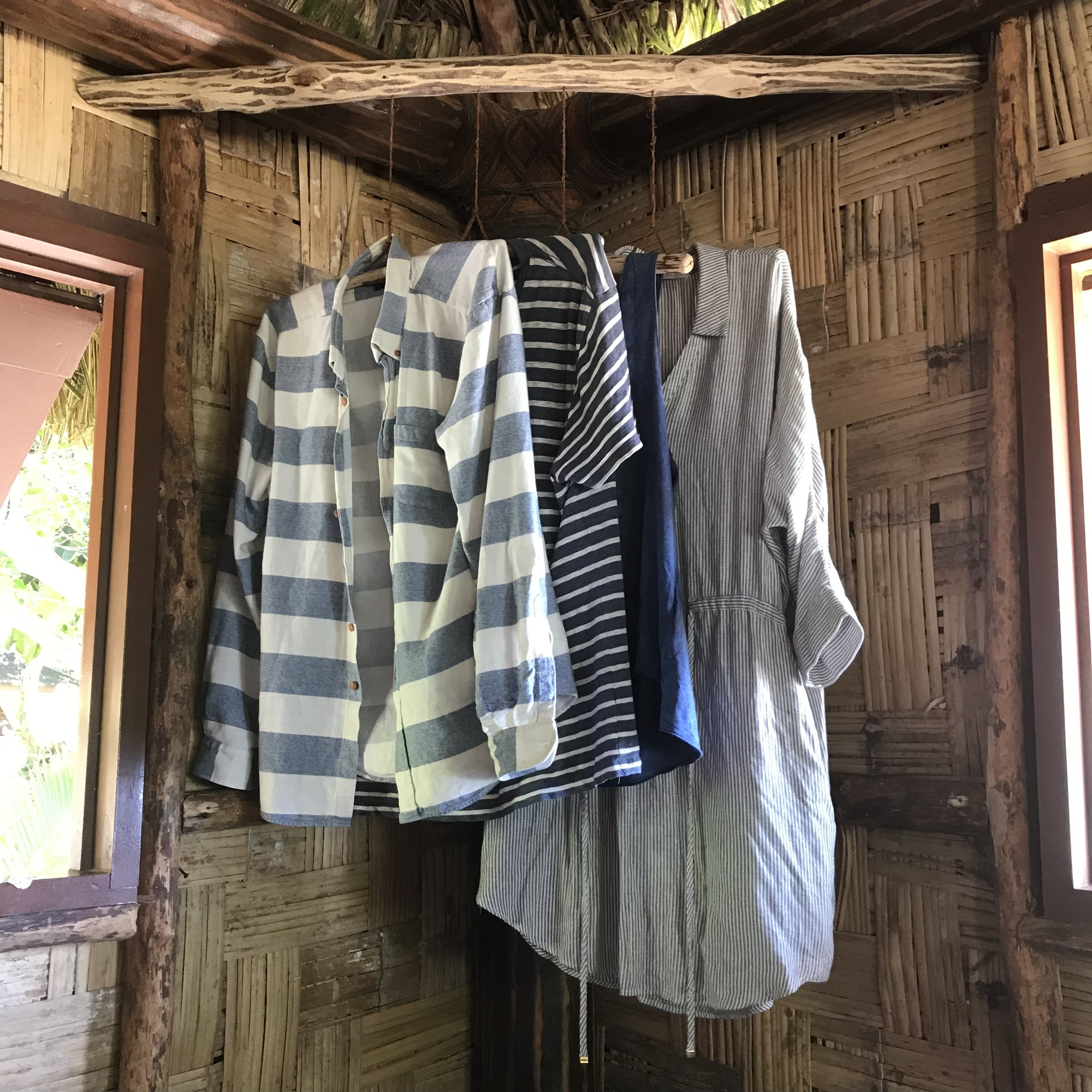If only my closet were as simple to choose from as this stylishly sustainable one... Leleuvia, Fiji.