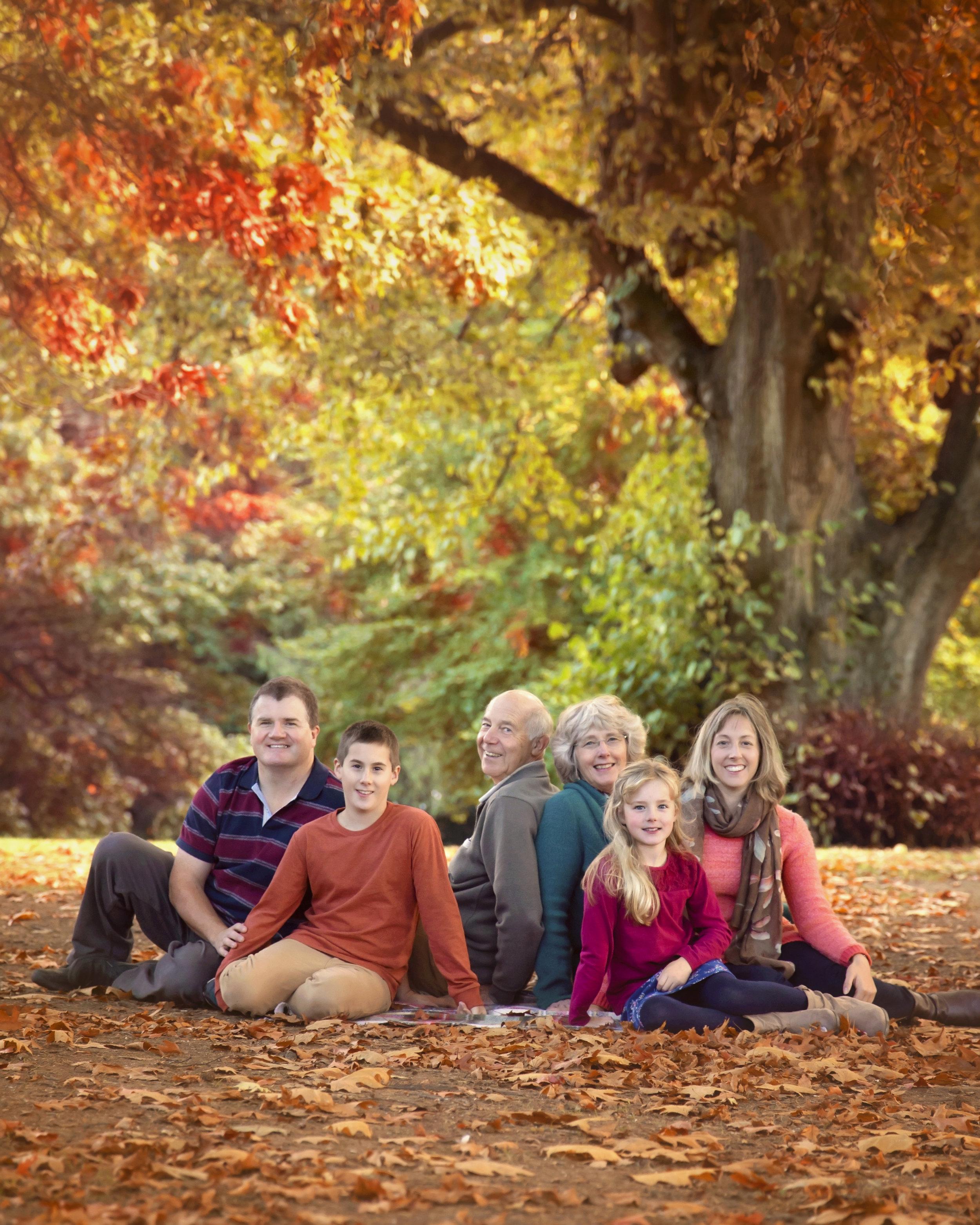 Autumn photoshoot outdoors