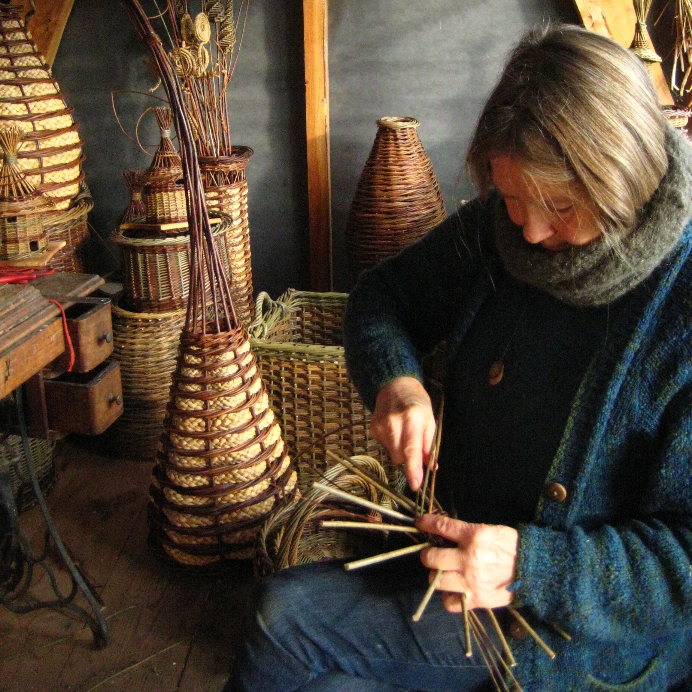 2 Day Willow Basket Weaving Workshop with Mandy Coates