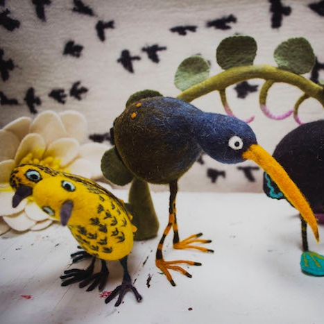 Needle felt a Quirky bird with artist/maker Ruth Packham.