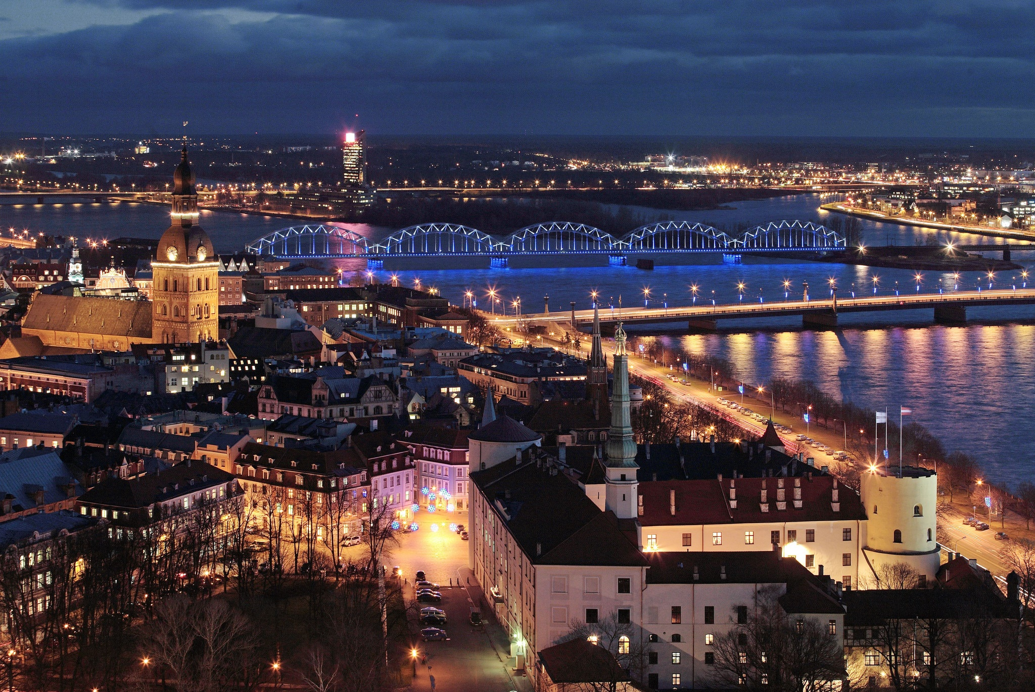 Old Riga in the Night, Aleksandrs Kendovs (Latvian Institute)