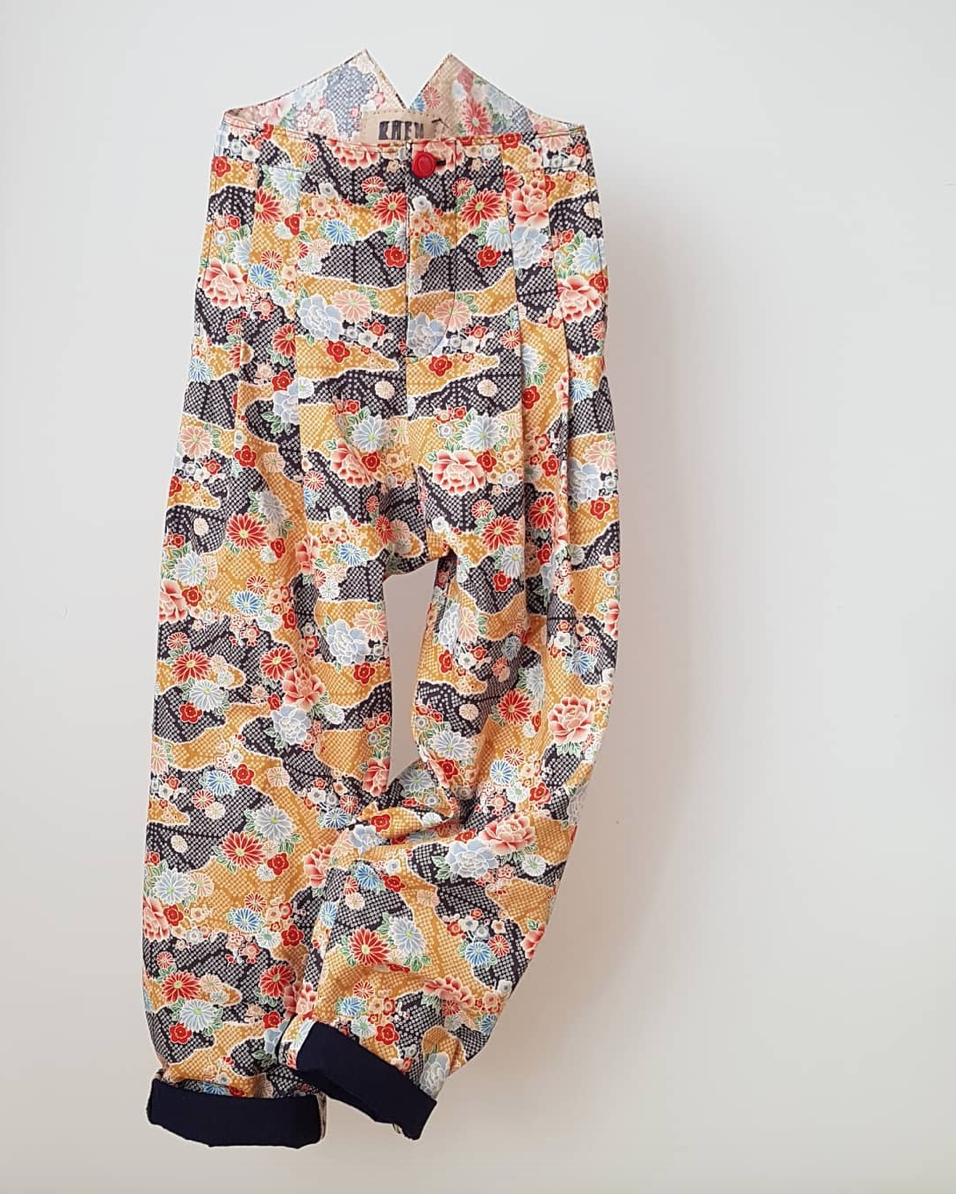 The classic baggie, in japanese printed cotton. - The classic baggie with a Printed twist. A must have statement piece for anytime wardrobe. Check out https://www.clothhouse.com/shop-fabrics?category=Japanese for a full range of print options.