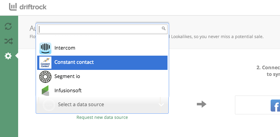 Sync Constant Contact Audiences using Driftrock