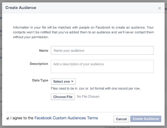 Name Facebook Custom Audience