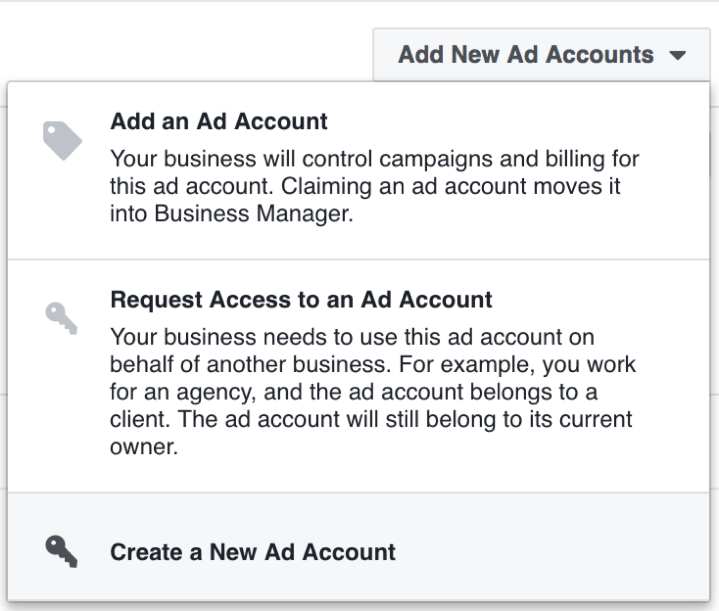 Facebook Business Manager - Add Ad Account