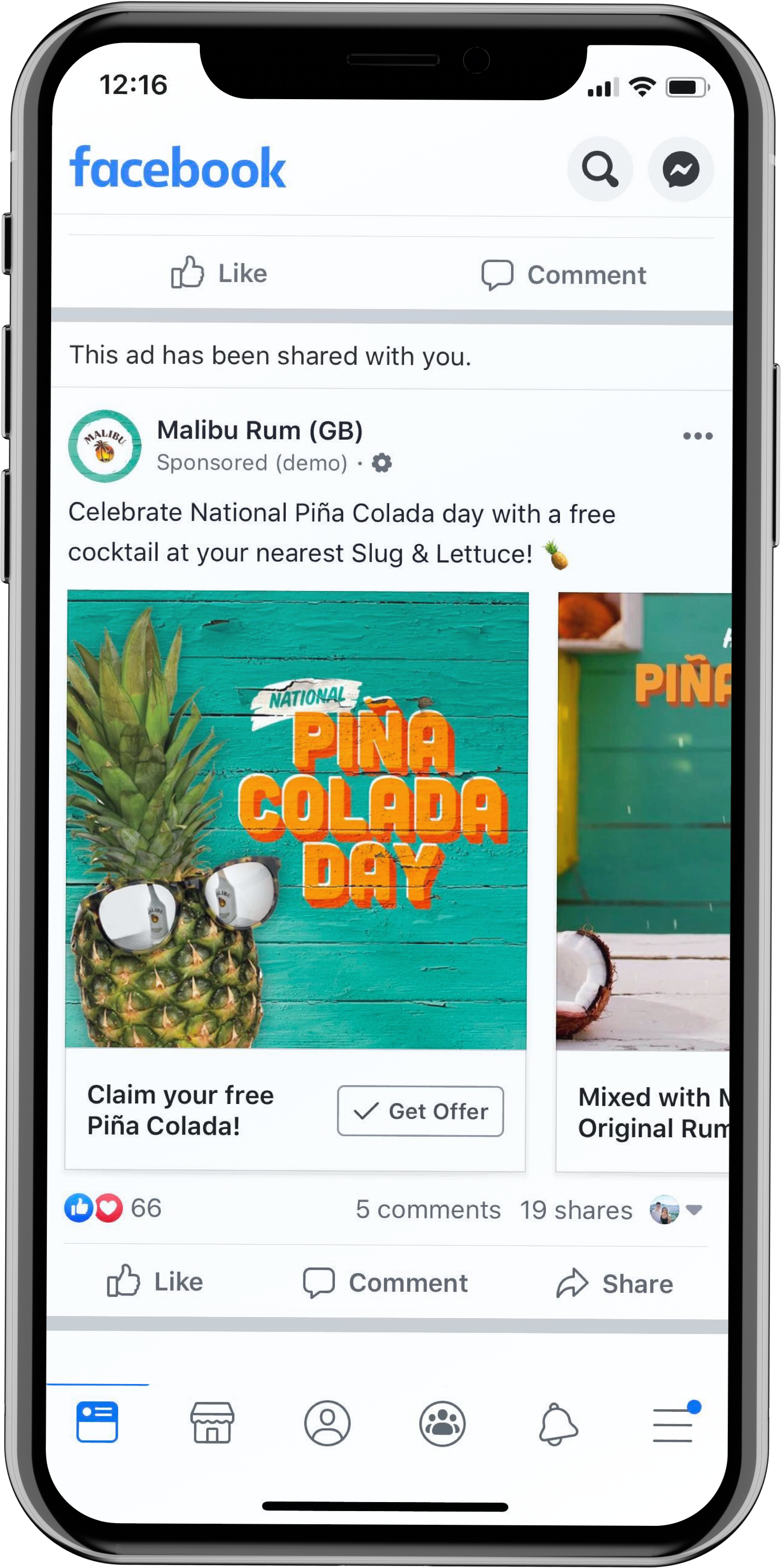 Step 1:  Customer Clicks your Facebook Ad