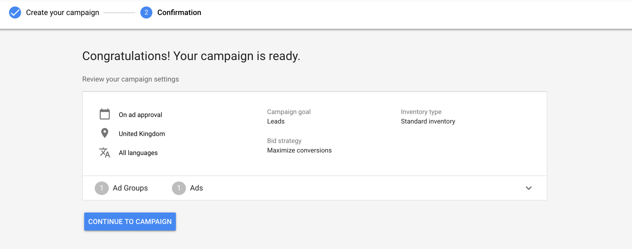 YouTube Form Ads - Campaign Set Up Comfirmation.png