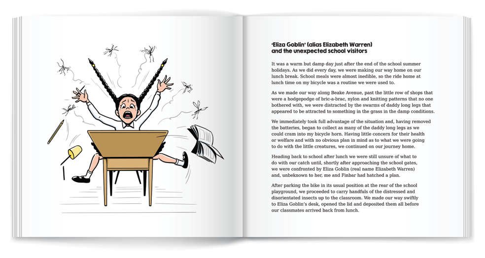 illustration school girl screaming book