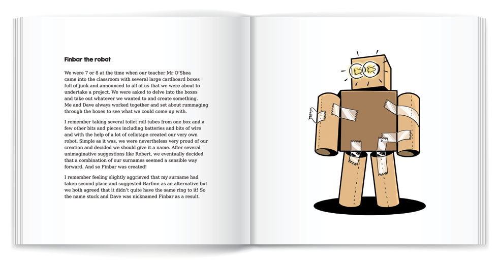 illustration robot book