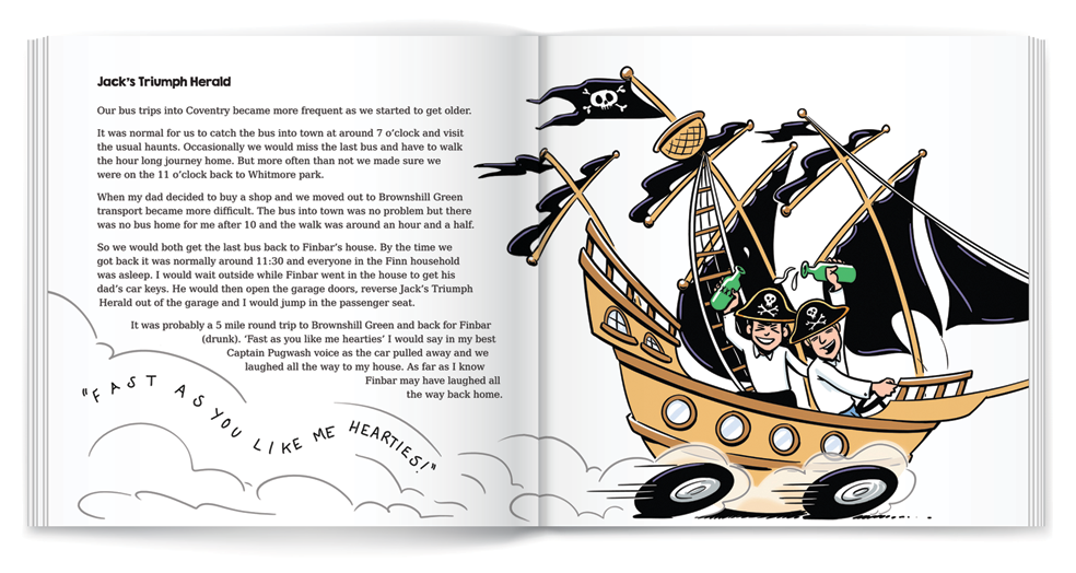 illustration pirate book