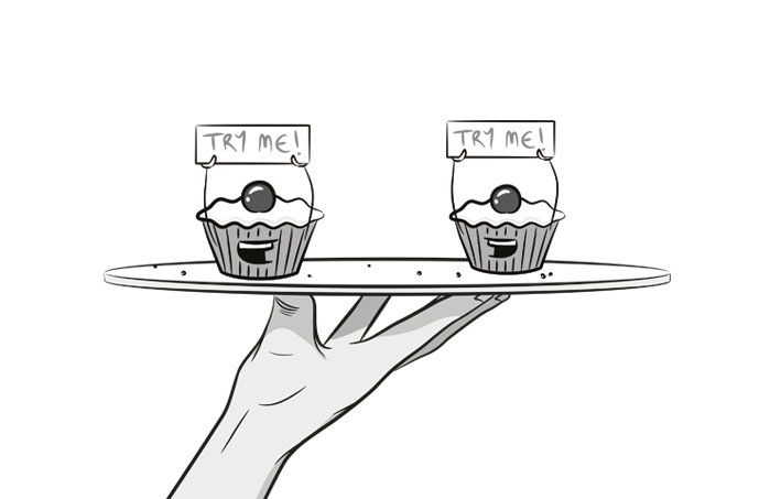 cupcake cartoon