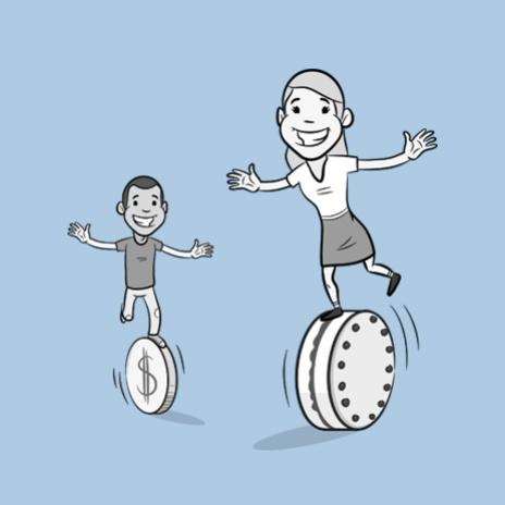 balancing cartoon