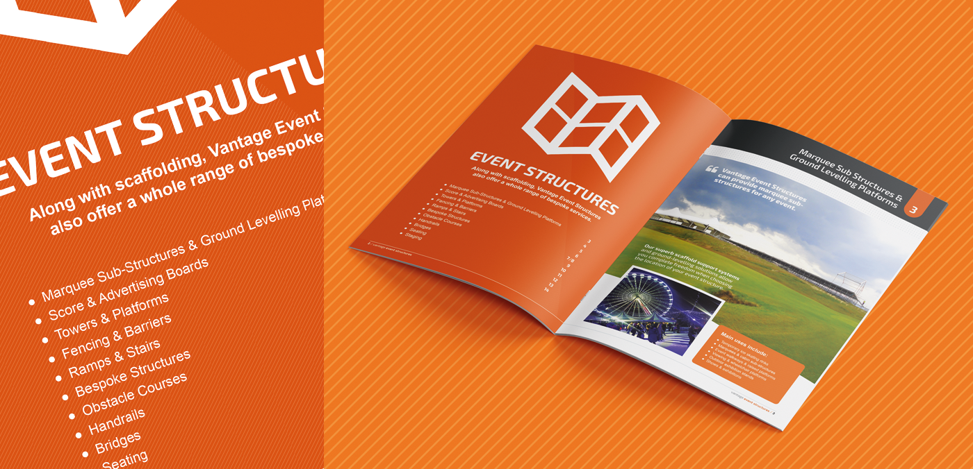 Vantage brochure spread design