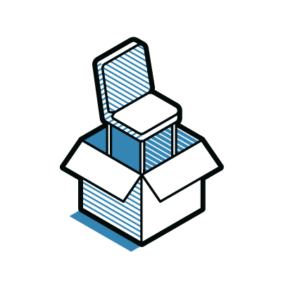 Assembled Chair Delivery Icon