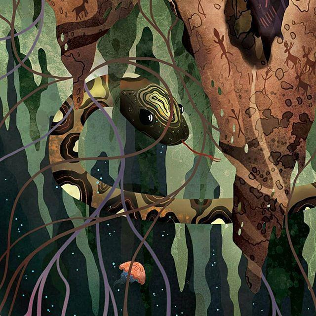 The Sleeping Giants - details from a larger work in progress . . . . . #art#illustration#snake#space#adventure#illustration_daily#pirategraphic#blvart#tempuradesign#illustree#ohdeer#surreal#art_spotlight#digitalart#adobe#photoshop#artofvisuals#illustragram#natgeocreative#artfido#designinspiration#thedesigntip#conceptart#spaceflight#spaceshuttle#cavepainting