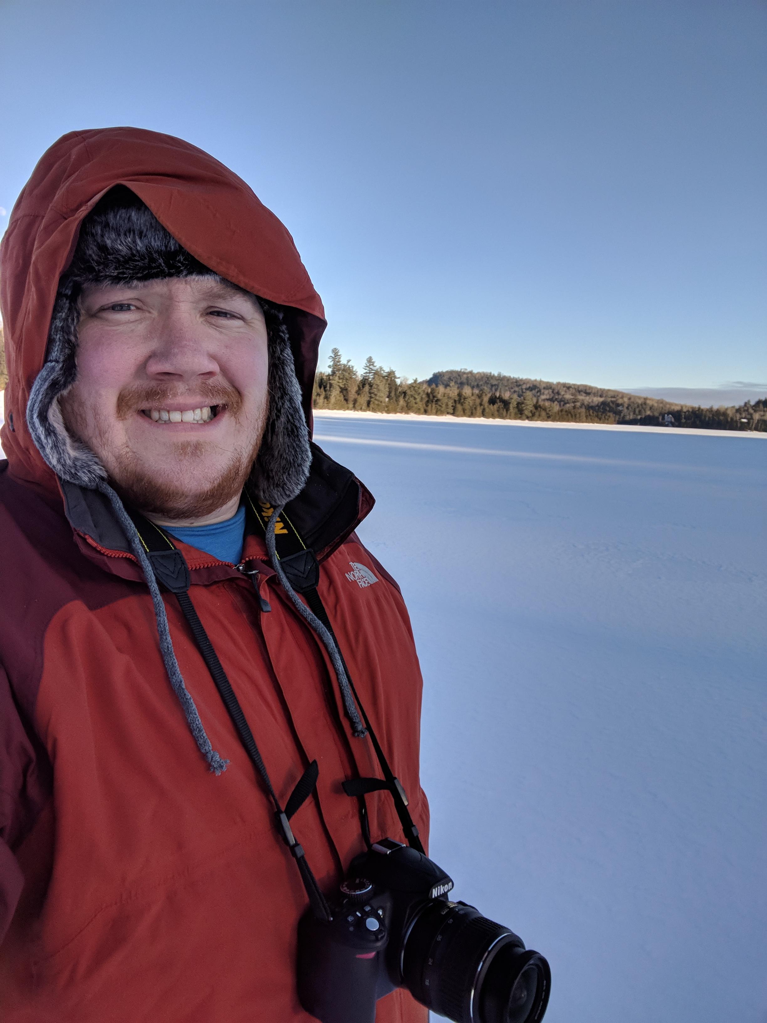 Frozen lake in N. Minnesota '18