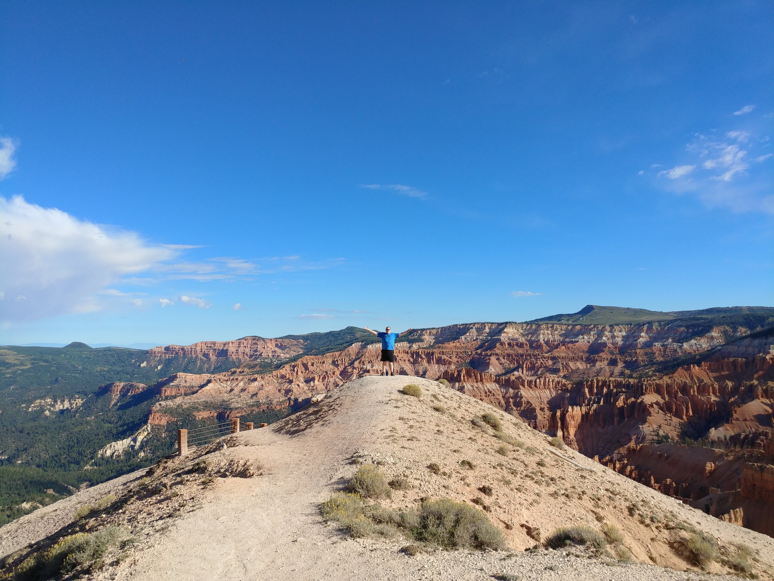 "Standing out on Spectra Point at Cedar Breaks National Monument (one of my ""Must See"" places in Utah)"