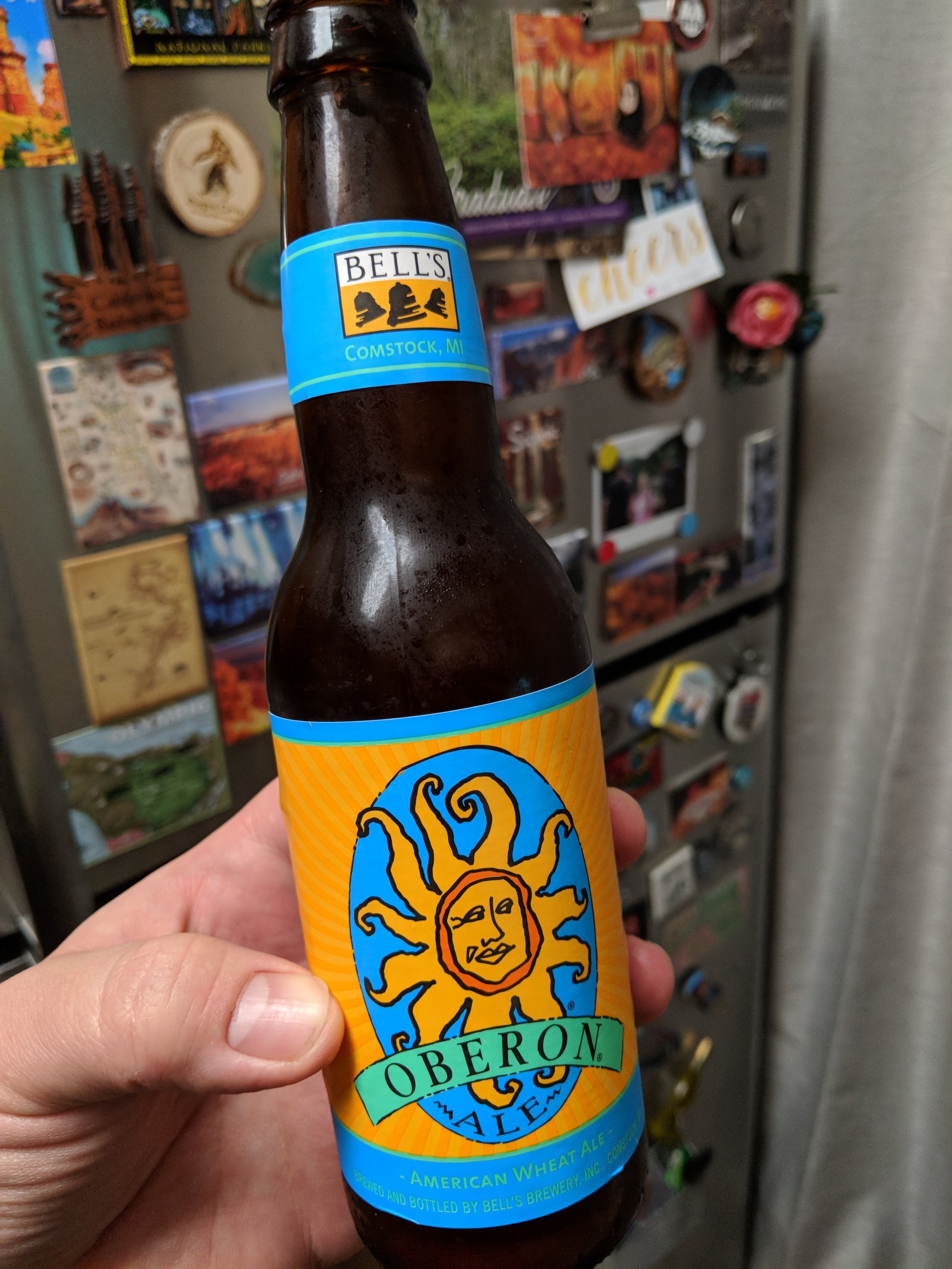 Don't mind the delicious Oberon in the way, just know there is a fridge full of magnets behind it.