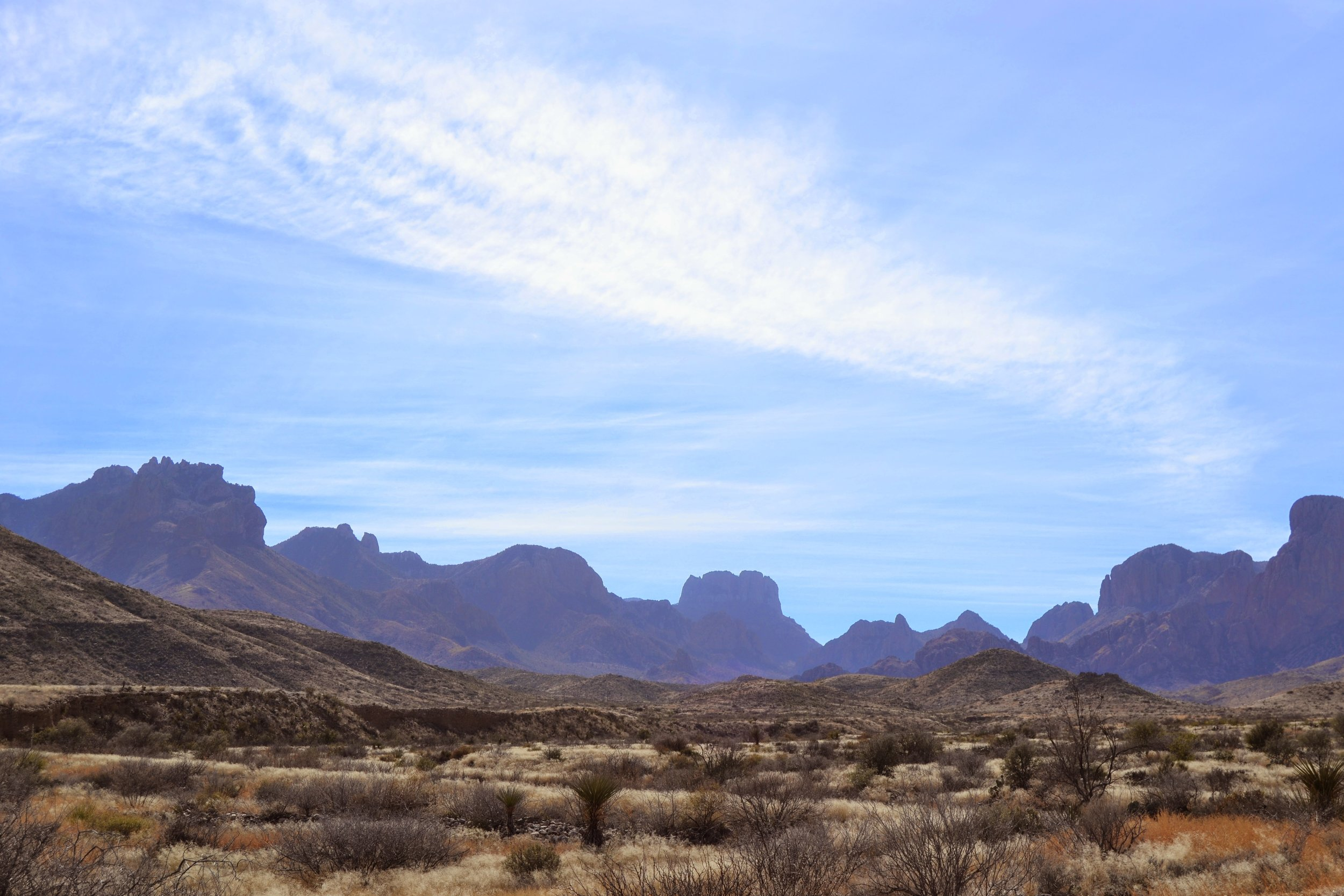 A view while driving down into Big Bend