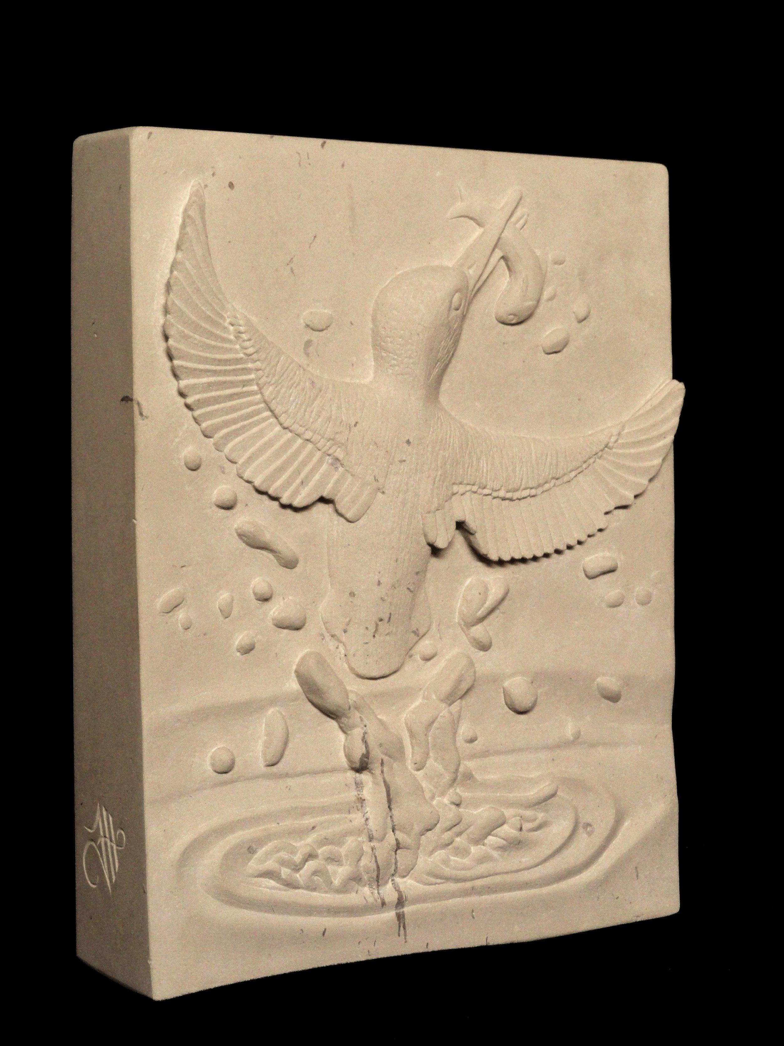 King Fisher relief in Portland Limestone