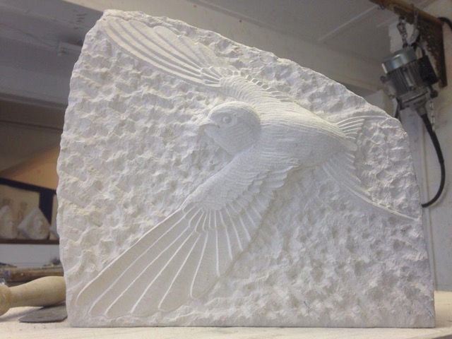 Swallow in Portland stone