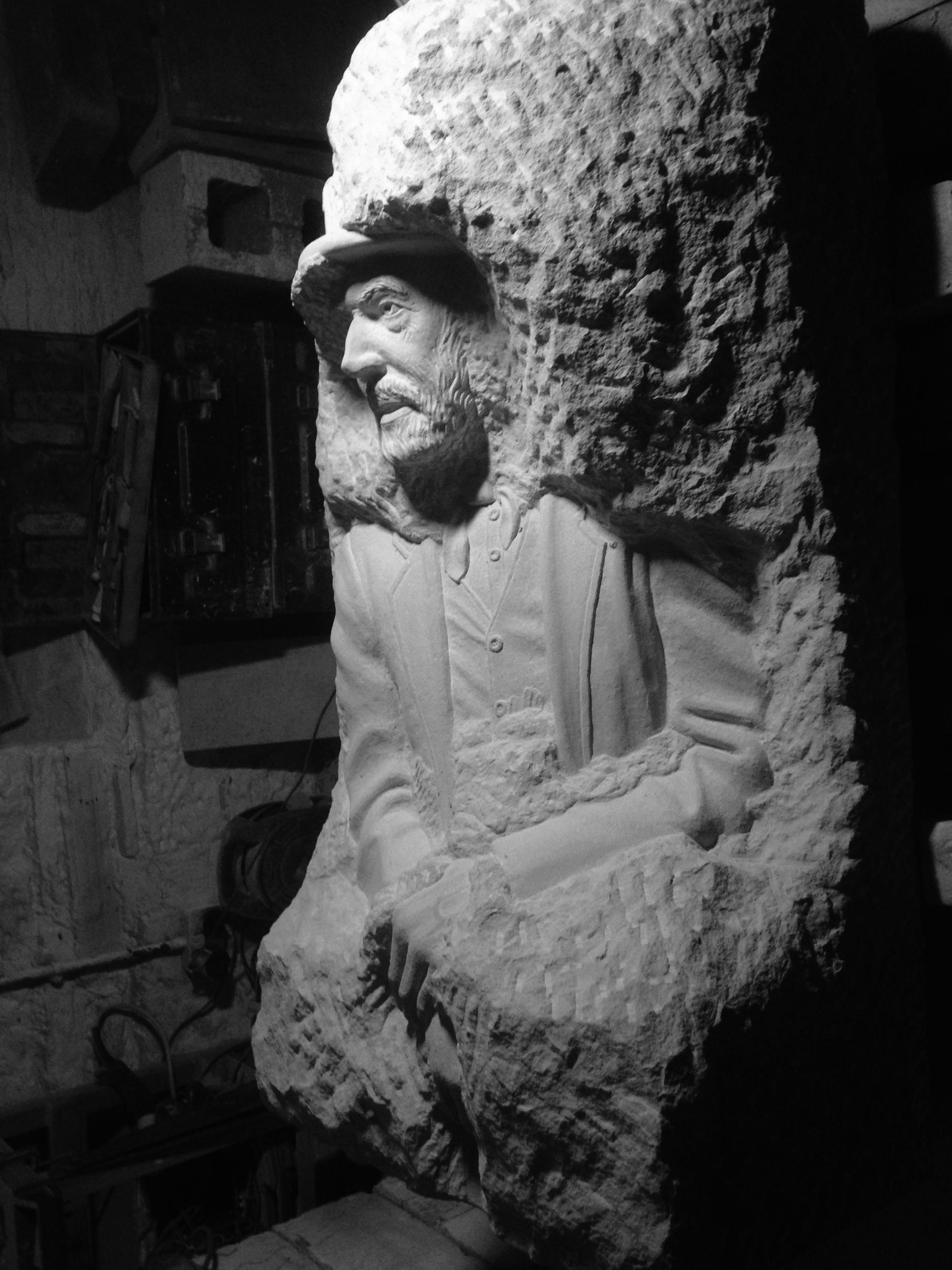 Lead miner in York stone