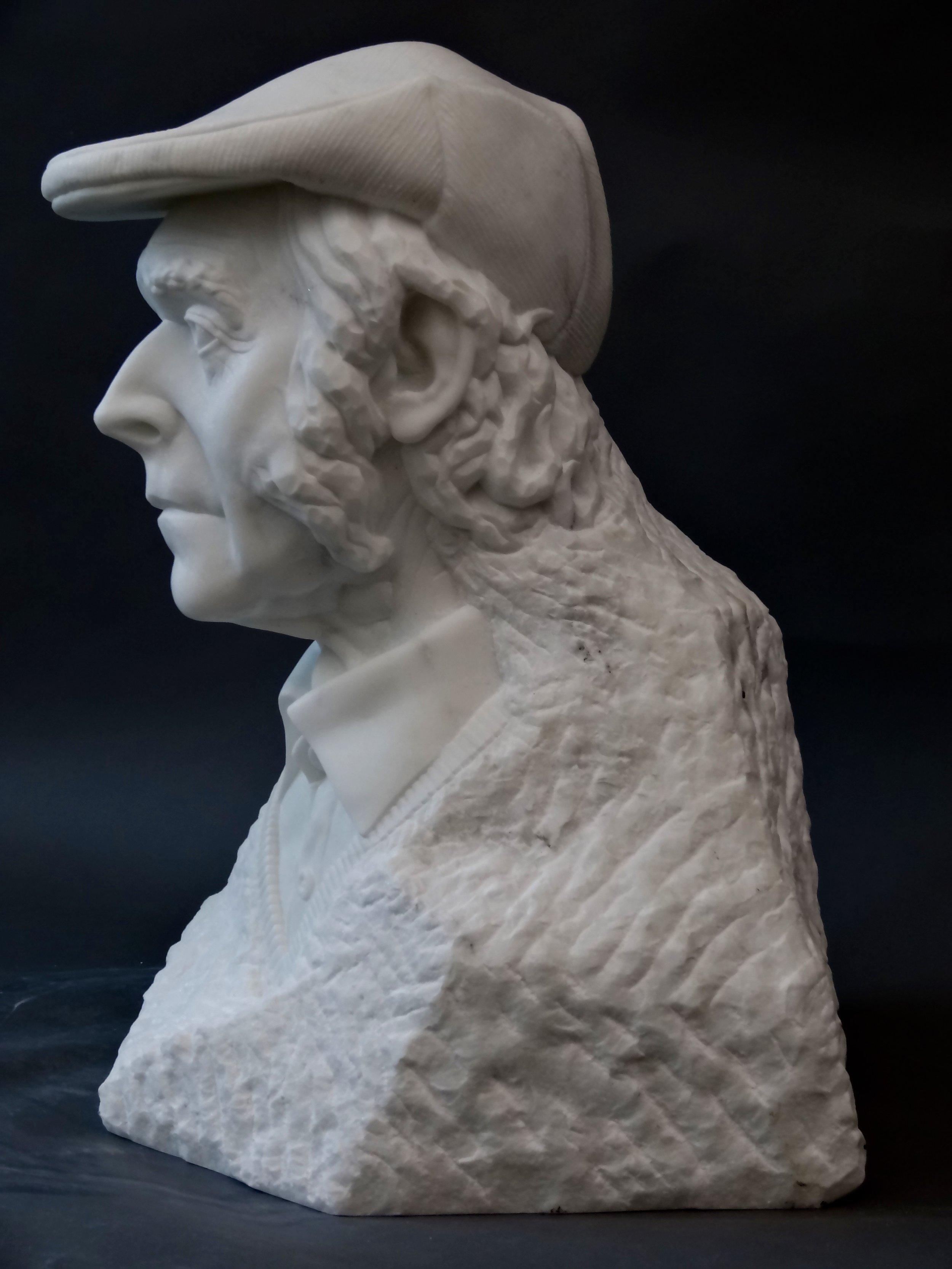 Shepherd in Carrara marble