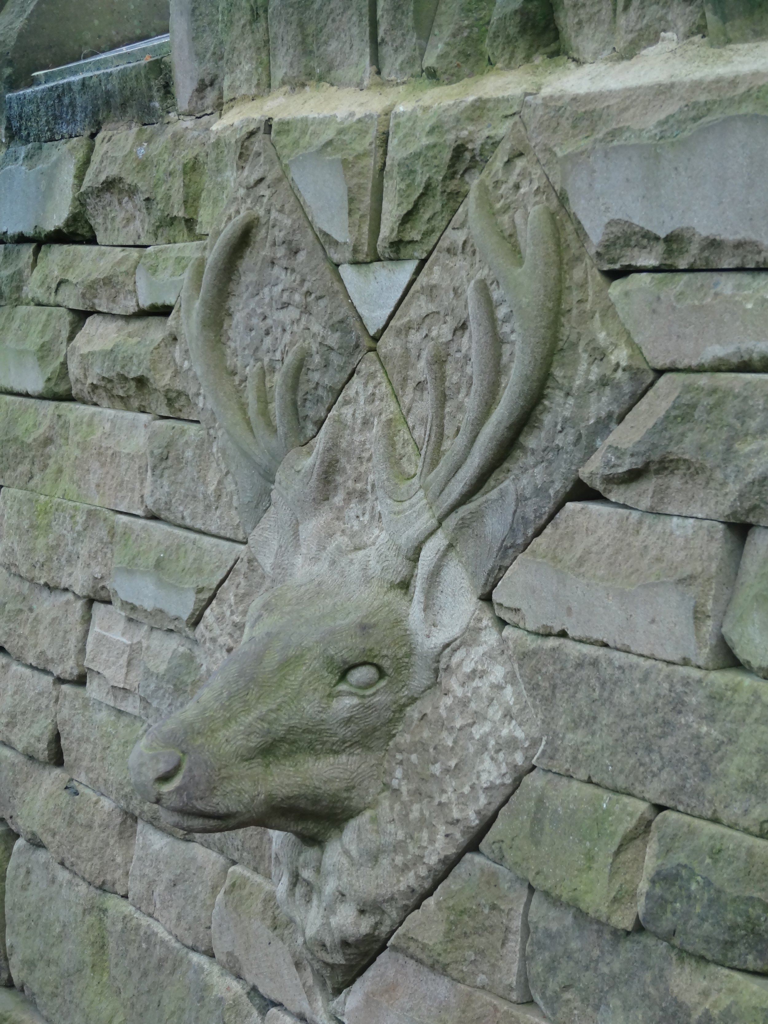 Red stag carved for Fountains Abbey