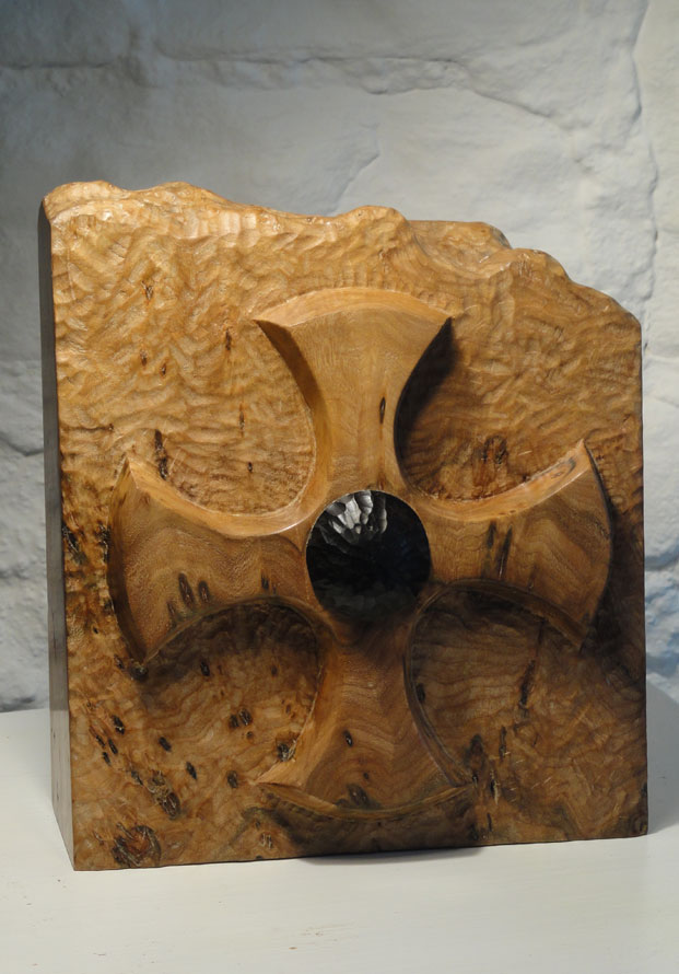 St Cuthberts cross carved in Burr Elm and Ebony