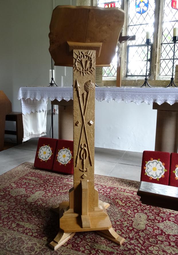Memorial Lectern Bewerly Chapel in Oak and Ash