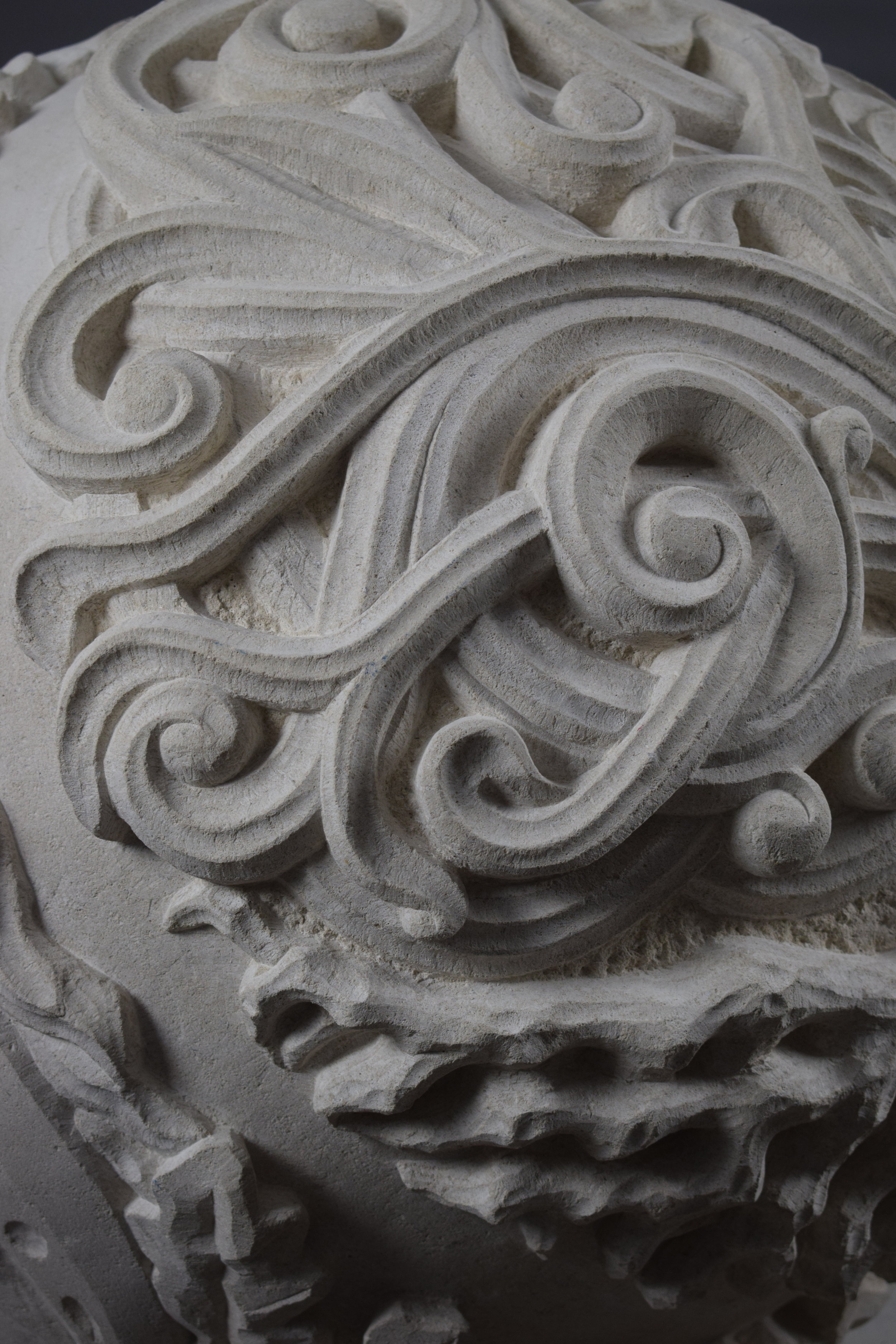 Pagan Sphere in Portland limestone