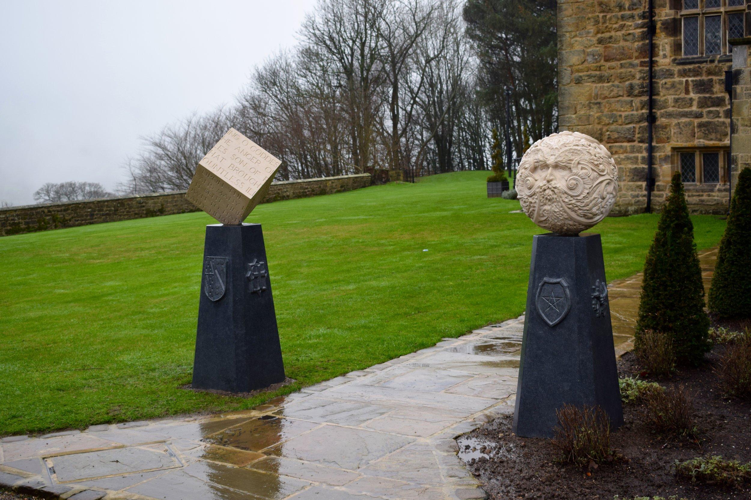Pagan Pillars carved in Portland and Kilkenny limestone