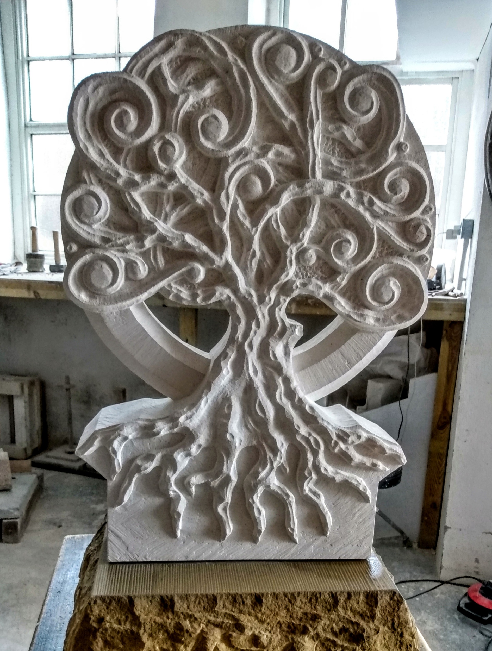 Tree of Life in French Limestone