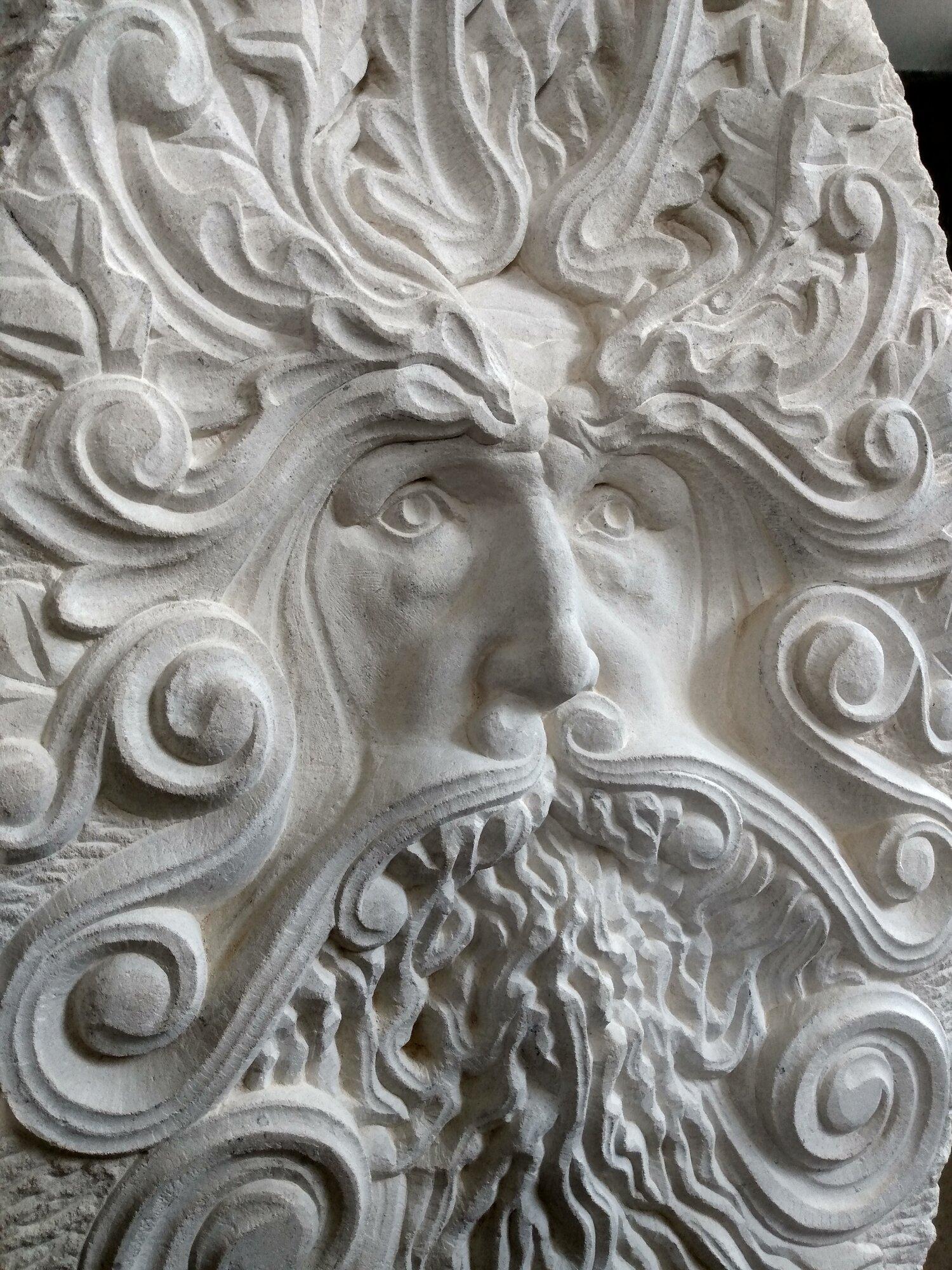 Green Man Detail