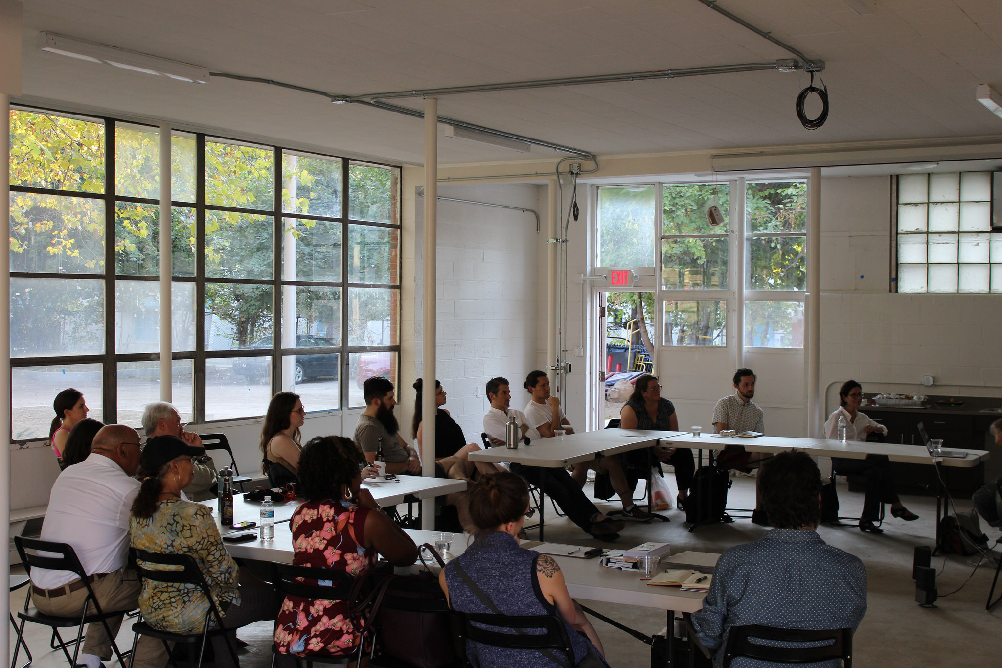 A Color Removed : Letter Writing Workshop at the FRONT Porch.Image courtesy of SPACES.