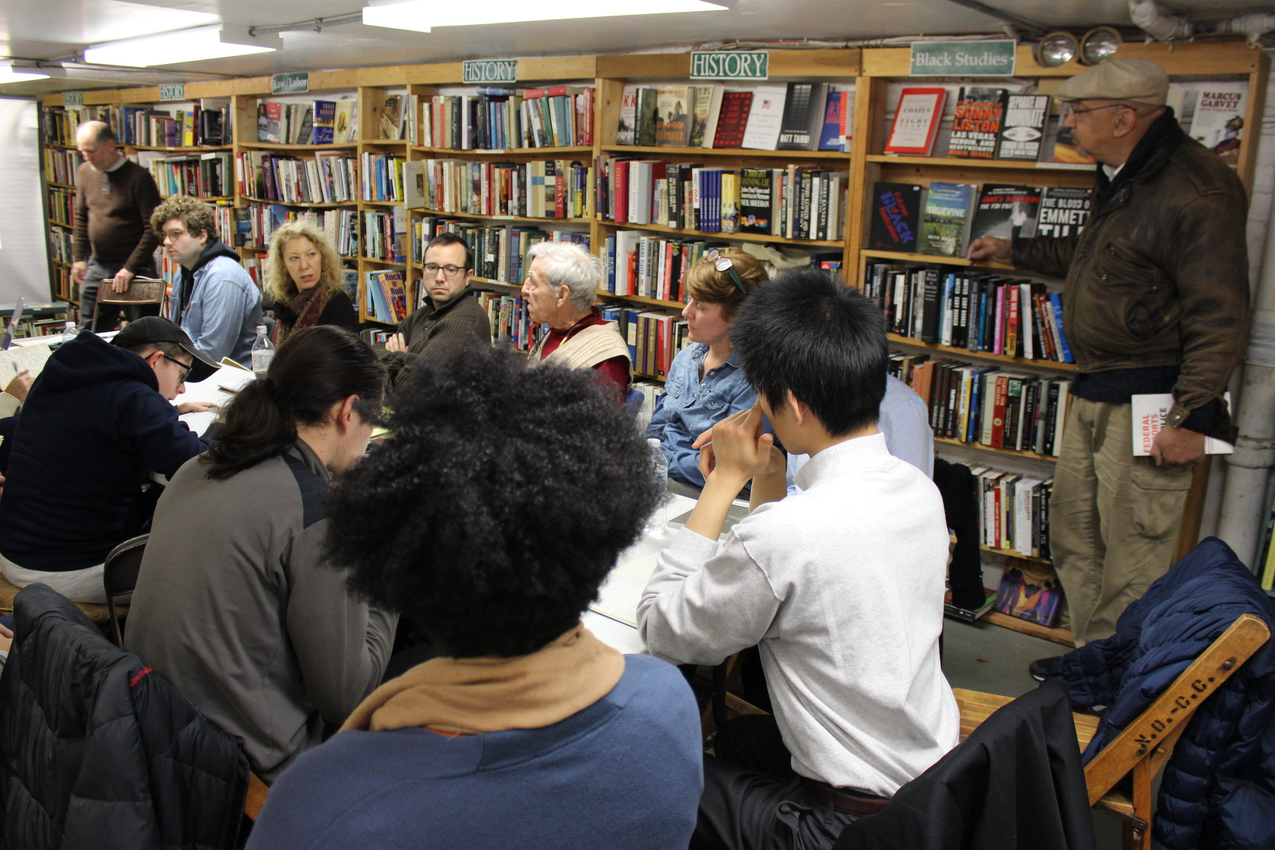 A Color Removed : Letter Writing Workshop at Mack's Back's Books on Coventry.Image courtesy of SPACES.