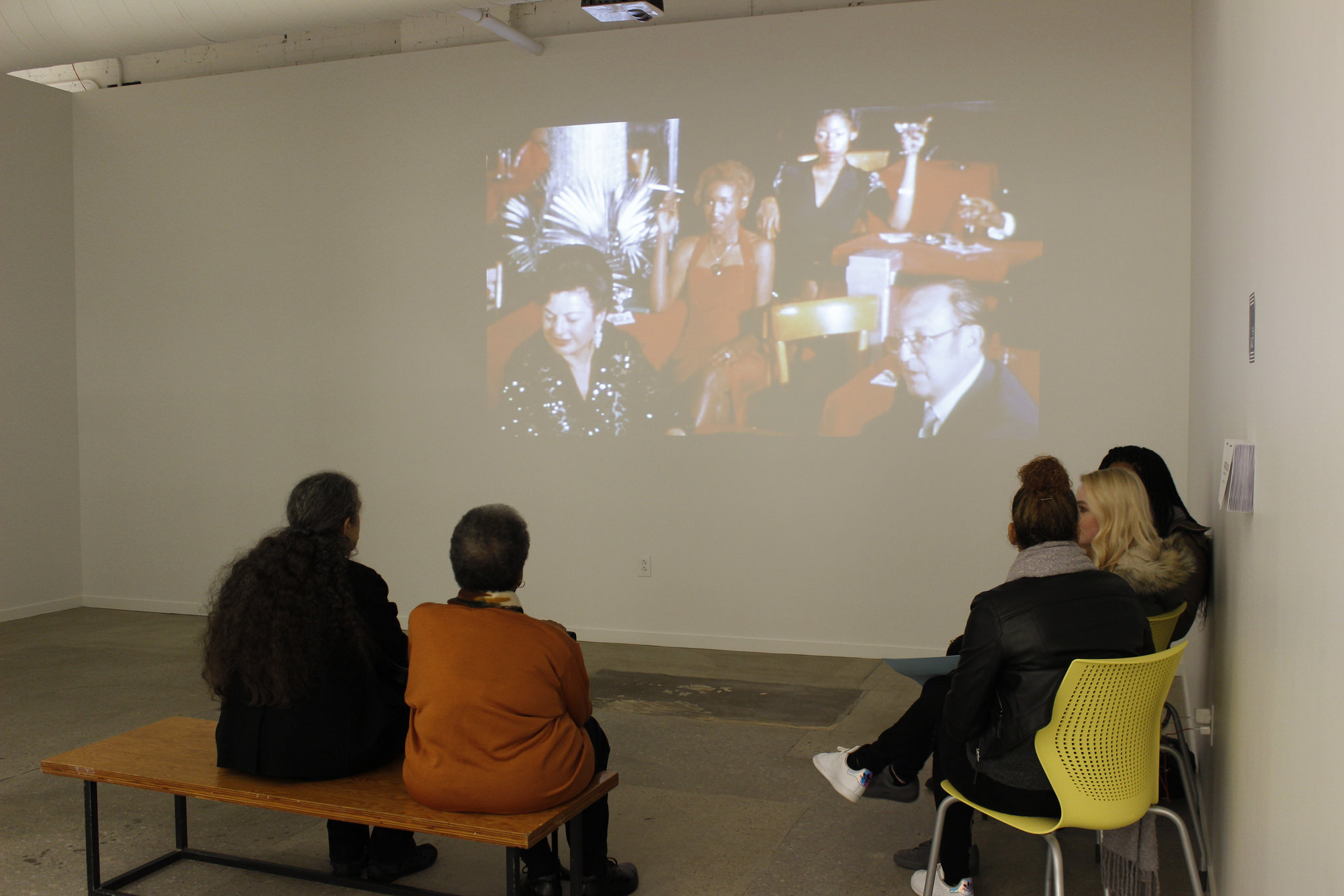 Opening reception for  Astro Black .Image courtesy of SPACES.