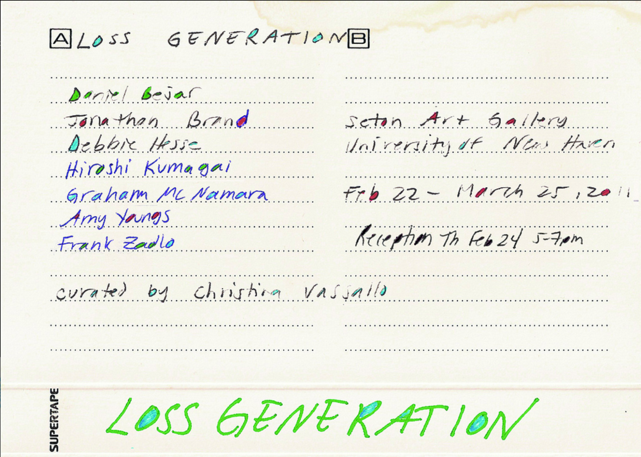 Loss Generation  exhibition announcement