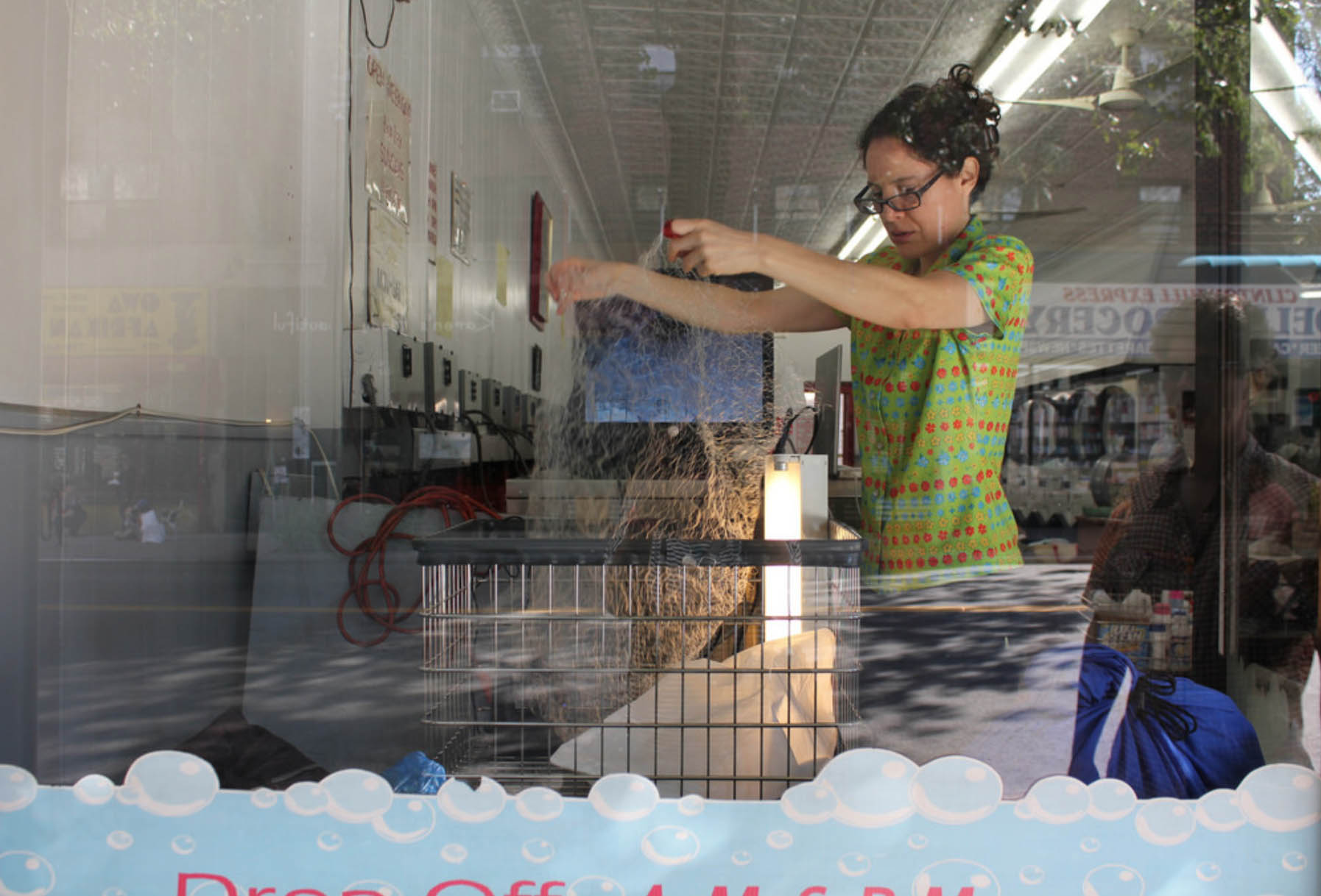 Lili Maya & James Rouvelle,  Surface-active agent, storefront window display