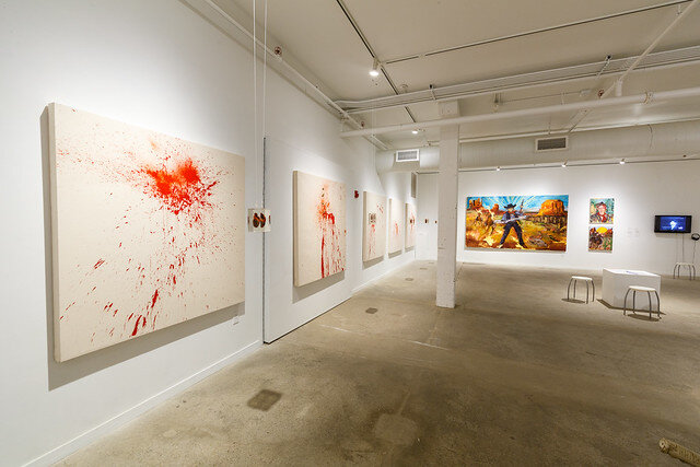 Installation view, photo by Rustin McCann & courtesy of SPACES.