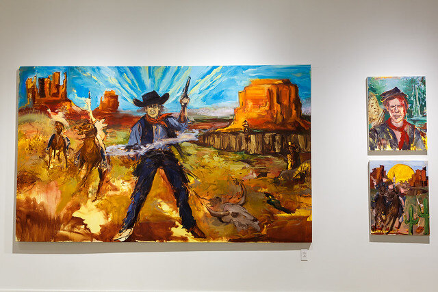 """Nikki Woods' """"Westward Expansion"""" installation. Photo by Rustin McCann & courtesy of SPACES."""