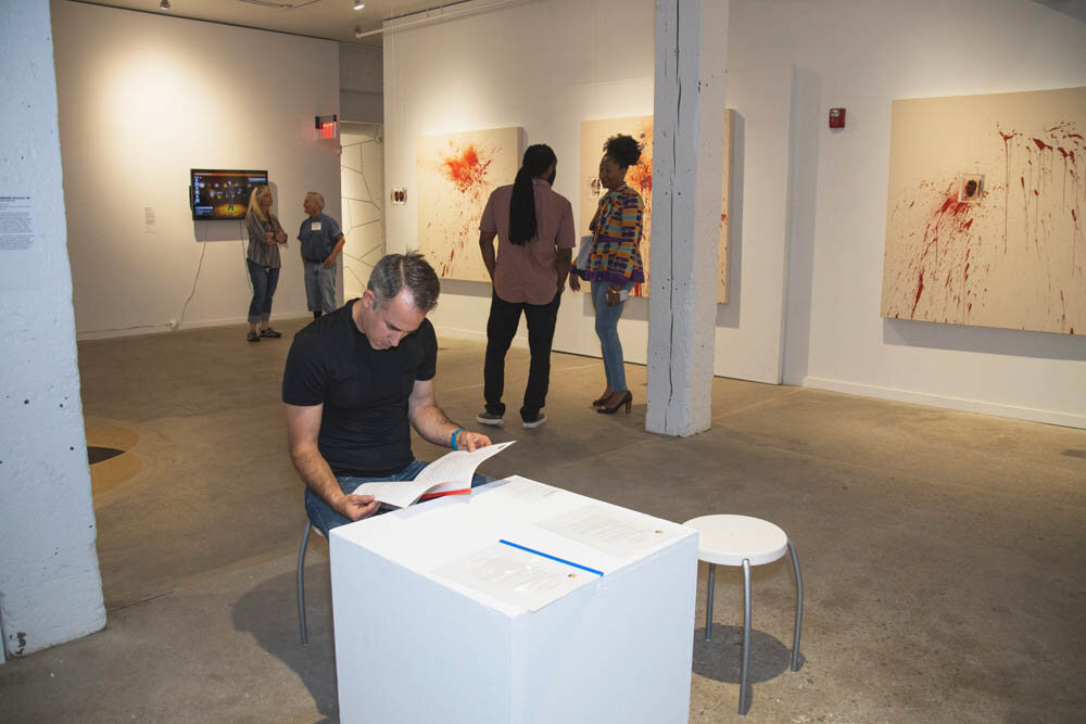 Installation view, photo courtesy of SPACES.