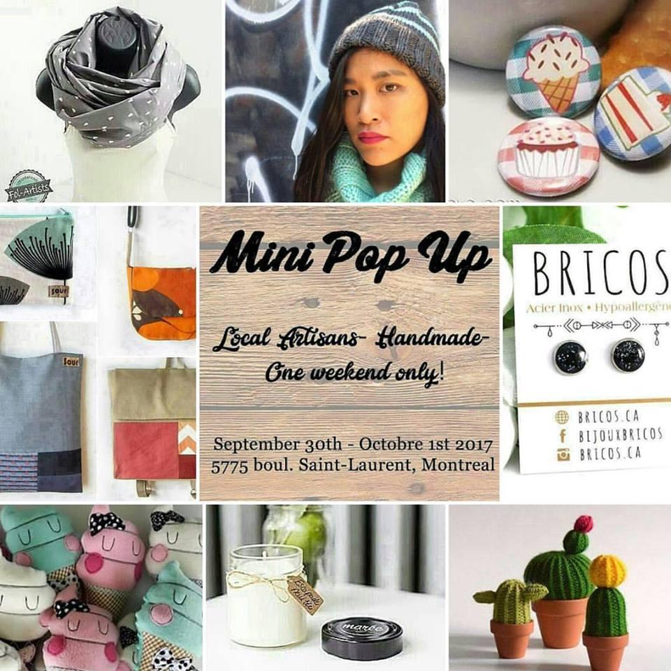 The Mini Pop Up I organized with my friend Priscilla from Bricos.