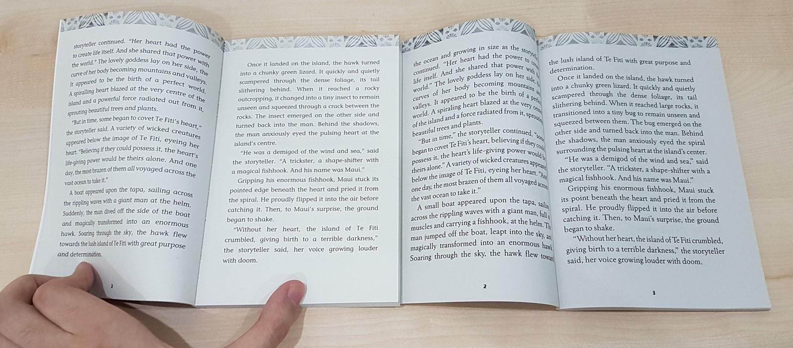 좌: Moana: The Book of the Film, 우: Moana: The Junior Novelization