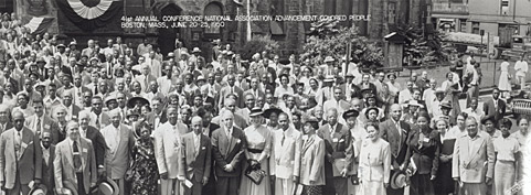 NAACP Convention delegates in Boston, June 20-25, 1950. At this convention, the NAACP decided that it was time to attack legal segregation wherever it persisted. (Courtesy of Library of Congress)