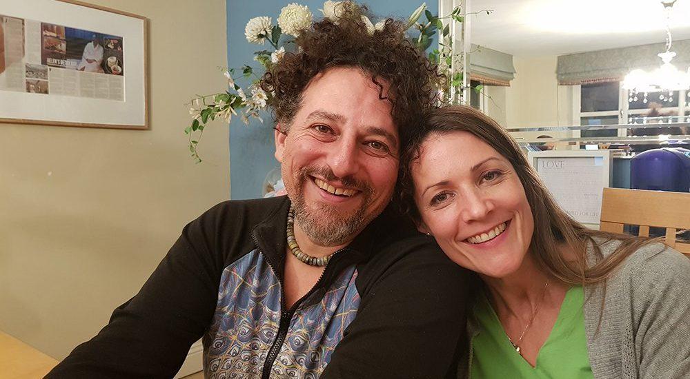 Helena with David Wolfe