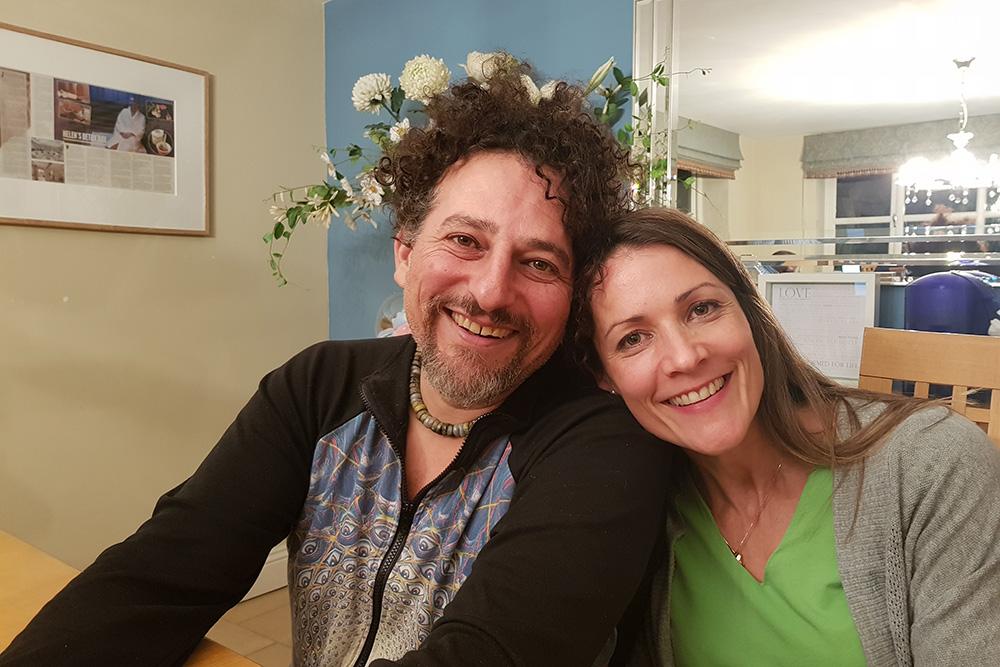 Helena Cavan with David Wolfe at The Milestone Detox