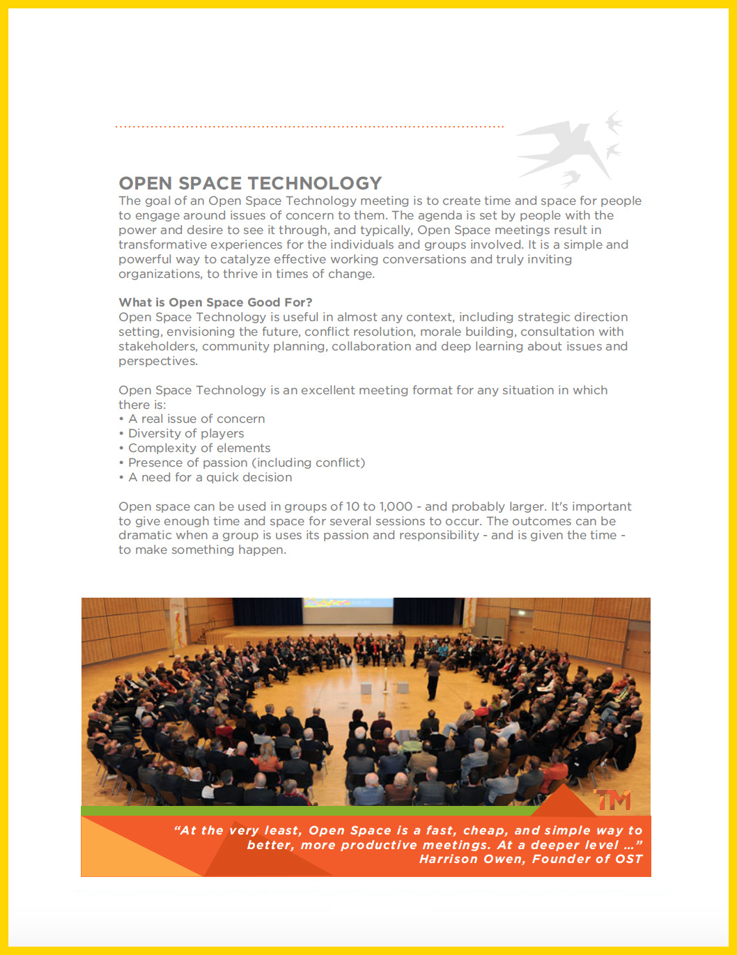 DOWNLOAD: OPEN SPACE TECHNOLOGY
