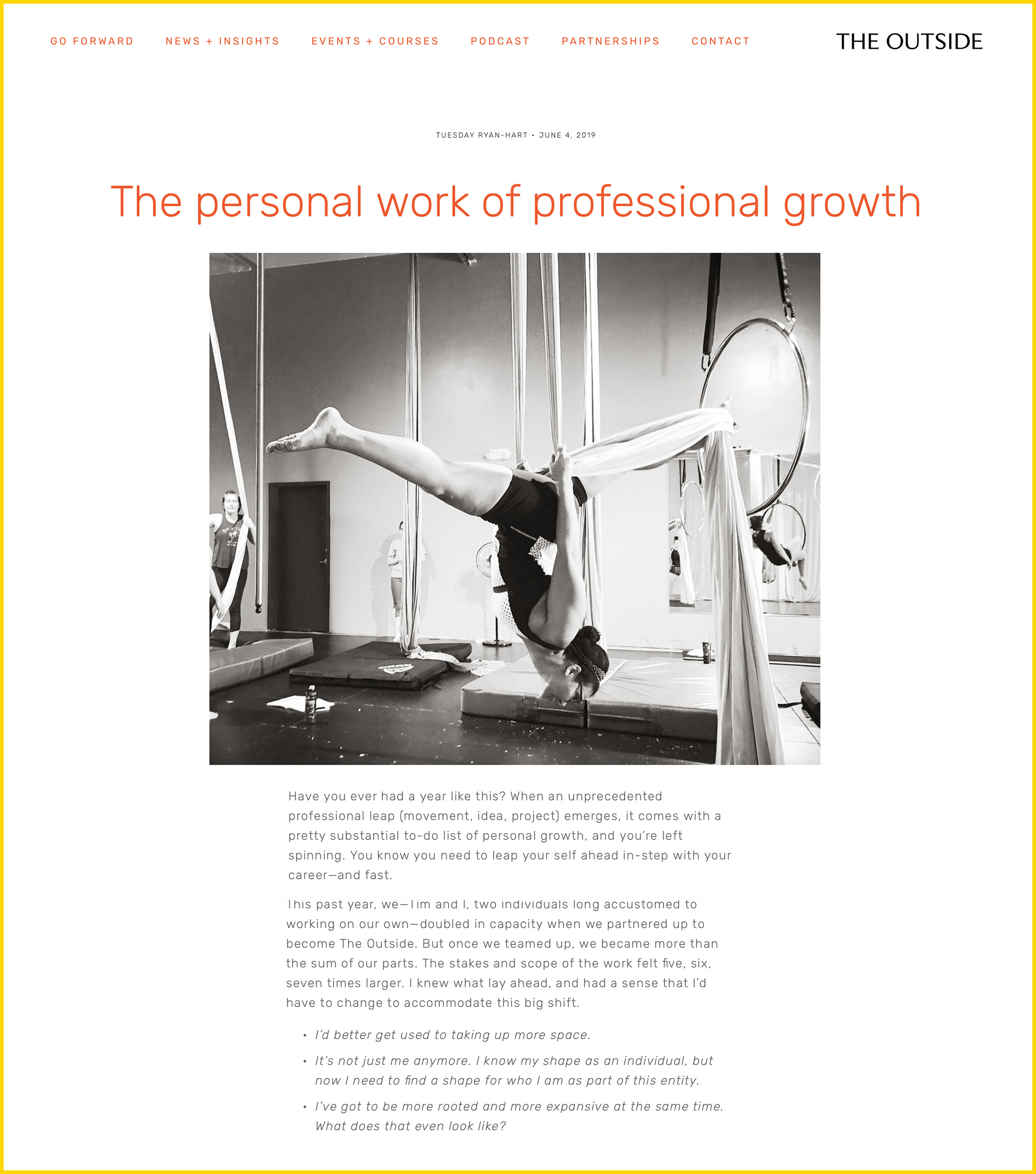 The Personal Work of Professional Growth  by Tuesday Ryan-Hart