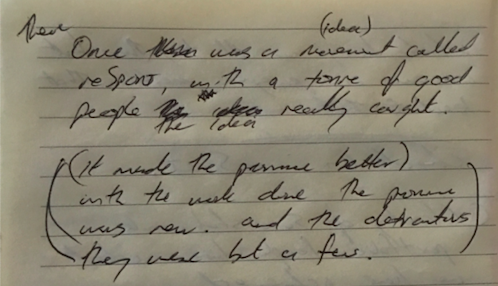 Meeting Notes - NOTE: Leo's beautiful handwritten poem above